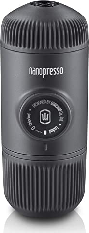 WACACO Nanopresso Portable Espresso Maker, Upgrade Version of Minipresso, Extra Small Travel Coffee Maker, Manually Operated. Perfect for Camping, Travel Thanksgiving Christmas Coffee Gift