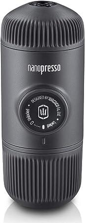 Wacaco Nanopresso Portable Espresso Maker, versión mejorada de Minipresso, cafetera de…