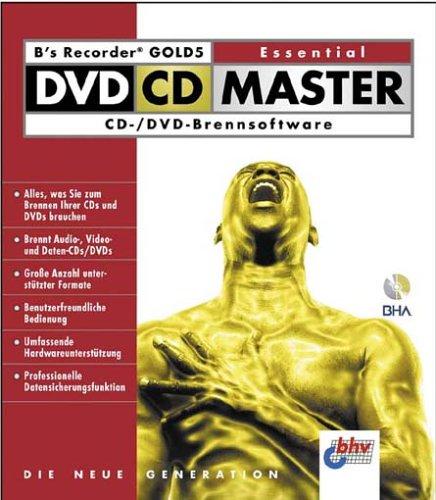 B's Recorder Gold 5 Essential DVD CD Master, 1 CD-ROM CD- / DVD-Brennsoftware. Für Windows 98, Me, 2000, XP