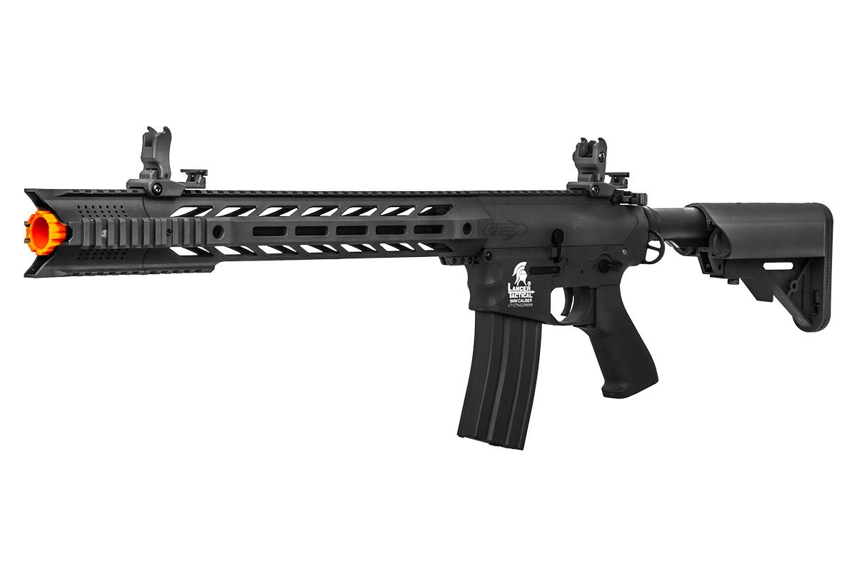 Lancer Tactical LT-25BL-G2 Gen 2 Interceptor SPR M4 Carbine Low FPS Version AEG Airsoft Rifle (Black) by Lancer Tactical