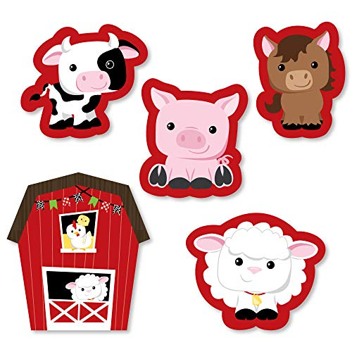 - Big Dot of Happiness Farm Animals - DIY Shaped Baby Shower or Birthday Party Cut-Outs - 24 Count