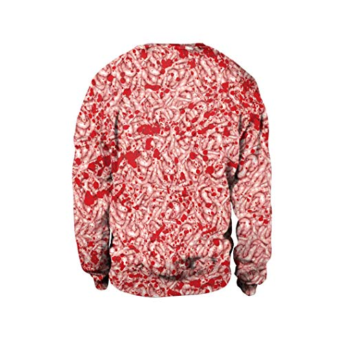 Fall Blouse,Morecome Women's Halloween Horrifying Maggots Print Long Sleeve Party Pullover Top Blouse Sweatshirt