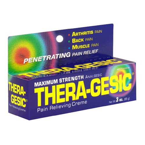 Thera-Gesic Pain Relief Crème, Maximum Strength, 3-Ounce Tube (Pack of (Maximum Strength Ointment)
