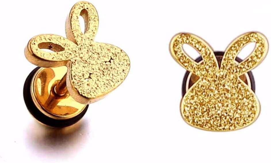 Ltong Cute Earring For Kids Girls Stud Earrings Cool Rabbit Ear Piercing Jewelry For Children S Earrings 1 Pair Gold 1pair Amazon Co Uk Kitchen Home