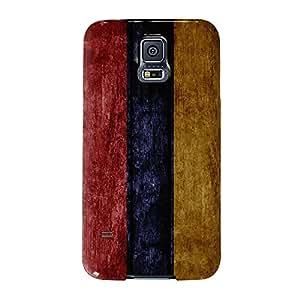 Grunge–Bandera de Armenia de madera bandera armenio Full Wrap Case, Carcasa de fijación para Samsung Galaxy S5Impreso en 3d de alta calidad de UltraFlags