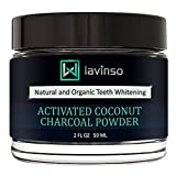 Image of Lavinso Teeth Whitening - Charcoal Teeth & Gum Powder for Natural and Safe Whitening - Made in USA - Organic Coconut Activated Charcoal and Bentonite Clay for White Smile & Complete Care of Teeth, 2oz