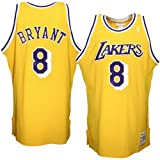 Mitchell & Ness Los Angeles Lakers #8 Kobe Bryant Gold Authentic Throwback Basketball Jersey (56)