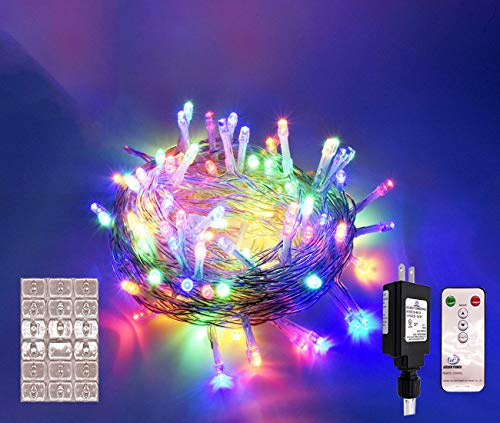 - Cusomik 100 LED 34ft Indoor String Christmas Lights 30V 8 Modes Fairy String Light for Homes, Christmas Tree, Wedding Party, Bedroom, Indoor Wall Decoration (100LED, Multicolor)