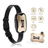 SMARTWOOD Bark Collar [Humanized Design], Anti bark Collar for Small, Medium& Large Dog, 7 Adjustable Levels with Vibration and Beep Voice, NO SHOCK, Harmless and Humane(Built-in intelligent chip)