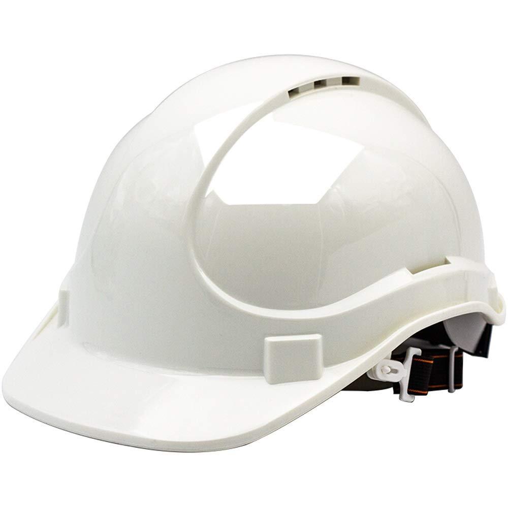 DDSS Safety Helmet - Construction Worker Hard hat Aerial Work Cap Construction site Anti-Smash Impact Helmet /-/ (Color : Red)