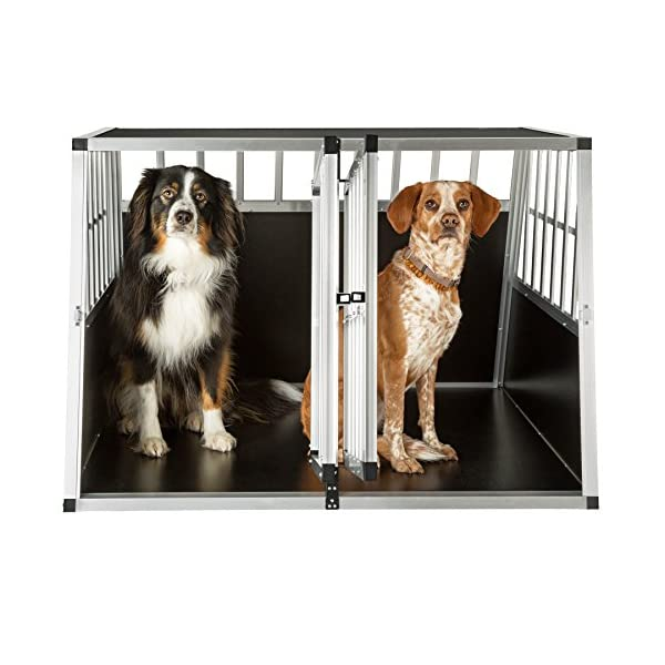 TecTake Dog cage trapezoidal - different models - 3