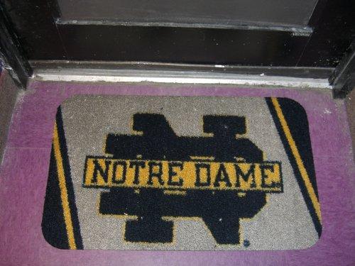 Fighting Irish Door Mat Rug - 28x17 Univesity of Notre Dame Fighting Irish Area Floor Door Mat Bath Rug