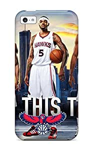 Excellent iphone 5s Case Tpu Cover Back Skin Protector Atlanta Hawks Nba Basketball (7)