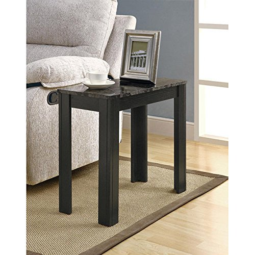 Metro Shop Black/ Grey Marble Accent Side Table