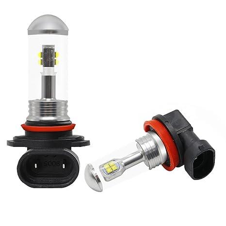 H8 H11 Led bombillas antiniebla 80W 1500LM 6000k Blanco CREE Kit de conversión de faros antiniebla