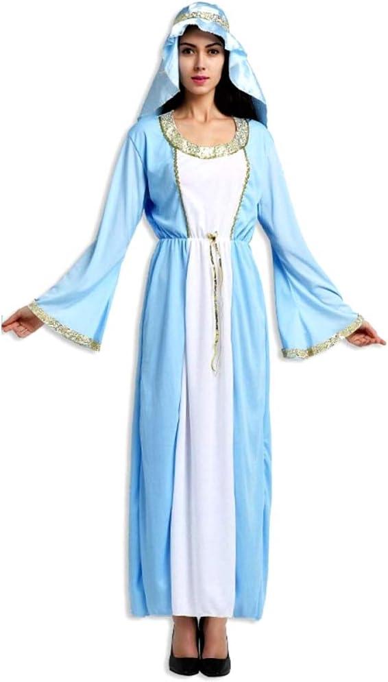 KIRALOVE Disfraz de Virgen maría - Dama para Mujer niña - Adultos ...