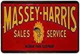 Massey Harris Sales & Service Vintage Look Reproduction 8x12 Metal Sign 8120800