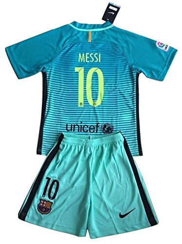 Barcelona Shirts Soccer - Barcelona 2016-2017 Messi #10 Youths 3rd Soccer Jersey & Shorts Set (11-13 years old)