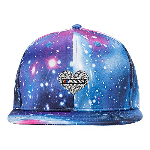 ETJIJCKDI Nascar Purple Galaxy Snapback Hat Unisex Trucker Hat Hip Hop Plaid Flat Adjustable Baseball Cap
