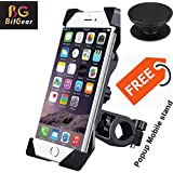 BitGear Bike Holder Universal 360 Degree Anti-Shake and Anti-Fall Motorbike Holder for GPS Devices and Moblie Phones - Multicolor (Free Popsockets Grip Mount)