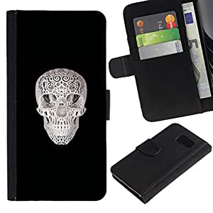 All Phone Most Case / Oferta Especial Cáscara Funda de cuero Monedero Cubierta de proteccion Caso / Wallet Case for Sony Xperia Z3 Compact // Printed Skull