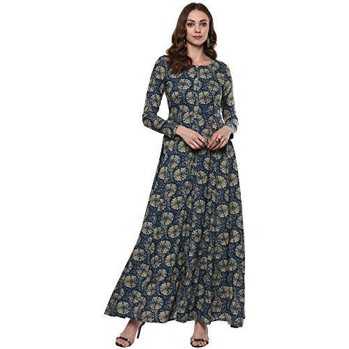 (Indian Virasat Kurtis Ethnic Women Kurta Kurti Tunic Multicolouredl Print Top Dress New Casual Wear)
