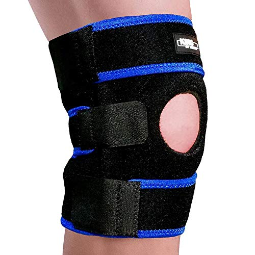 Knee Brace Support Sleeve for Arthritis, Meniscus Tear, ACL, Running, Basketball, Sports, Athletic, MCL, Runners Men and Women – Adjustable Open Patella Stabilizer Protector to Relieve Pain (Blue)