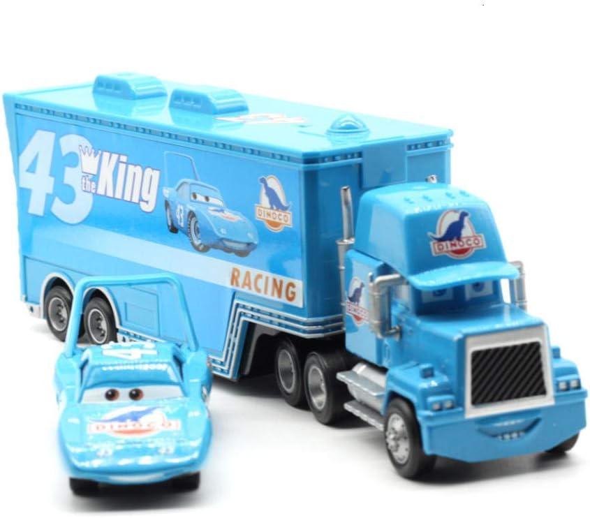 3 Juguetes Rayo Mcqueen Jackson Storm Mack tío camión 1:55 Diecast Modelo de Coche para niños Rey tío 2pcs