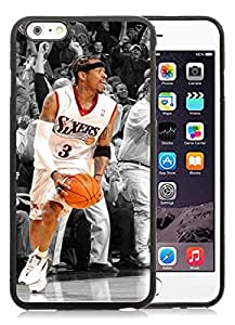 Allen Iverson Black iPhone 6 Plus 5.5 inch TPU Cellphone Case Luxurious and Newest Design