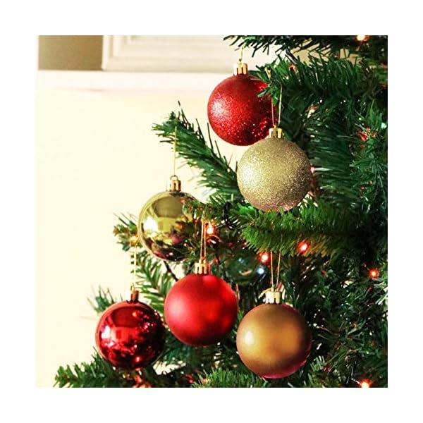 Palla di Natale Diametro 6 cm Albero di Natale Deco Appeso Palle per Albero di Natale Bauble Palla di Natale in Plastica Set Utilizzato per Decorazioni Natalizie per Feste Colore Misto (24 pezzi) 3 spesavip