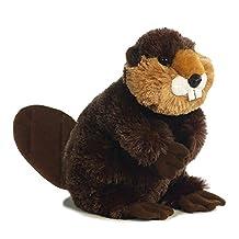 "Bucky Beaver 12"" Flopsie Stuffed Animal"