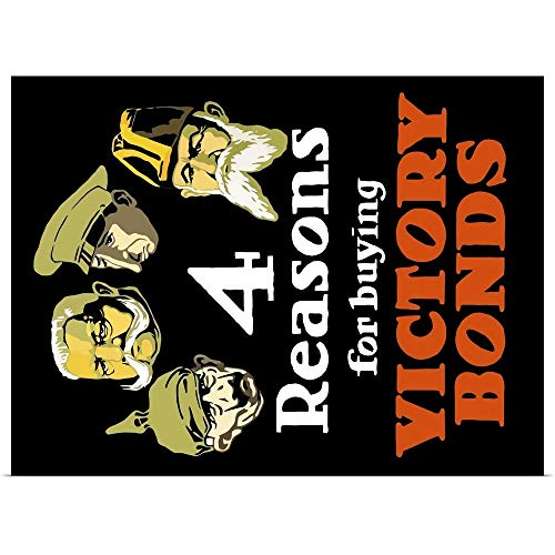 (GREATBIGCANVAS Poster Print Entitled World War I Poster Featuring The Heads of Four Leaders from The Central Powers by John Parrot 16