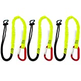 Spidergard SPTOOL01 3ft Tool Lanyard with Single Carabiner (Pack of 3, Lime)