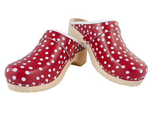 Sabots standard polka rouge points blancs