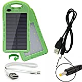 dual USB 2 Amp charge ports portable IP65 waterproof power bank 22Wh battery pack charger with solar trickle charge designed for the Tascam CD-BT2 GT-R1 CD-VT2 MP-VT1 MP-BT1 DR-2D