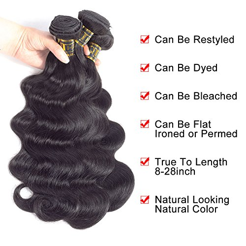 QTHAIR 10A Peruvian Body Wave Virgin Hair 12 14 16inch 300g Natural Black Color Color 100% Unprocessed Peruvian Body Wave Human Hair Weave