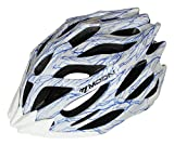 Moon Road and Mountain Bike MTB Helmet, Light Weight with High Grade EPS and PC(White)