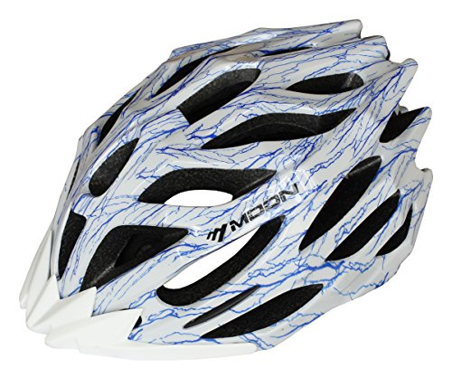 Moon Road and Mountain Bike MTB Helmet, Light Weight with High Grade EPS and PC(White) (Pro Bmx Bikes Freestyle Cheap)