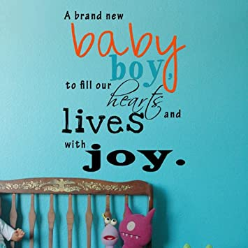 Amazoncom Popdecors A Brand New Baby Boy Inspirational Quote