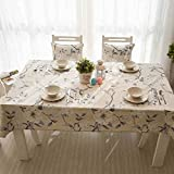 HYLRUS modern flower pattern Square cotton tablecloth Picnic cloth Table decoration Holiday decoration Easy to clean Various sizes Christmas tablecloth