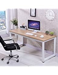 Love+Grace Computer Desk PC Laptop Table Wood Work-Station St...