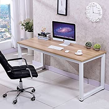 Love+Grace Computer Desk PC Laptop Table Wood Work-Station Study Home  Office Furniture
