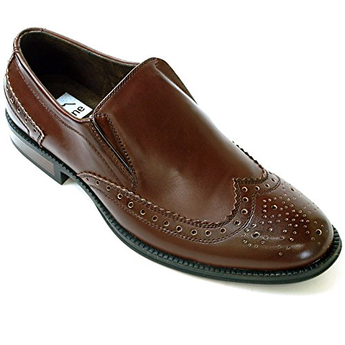 Alpine Swiss Basel Men's Dress Shoes Brogue Medallion Wing ...