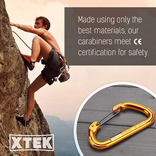 Mosquetón Wiregate (23Kn=5171lbs) de aluminio en forma de D con alambre recto para escalada – UIAA CE nominal – Gran escalada de roca, senderismo, ...