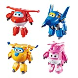 Super Wings Jett, Donnie, Dizzy, and Jerome (4 Pack) Toy Figure