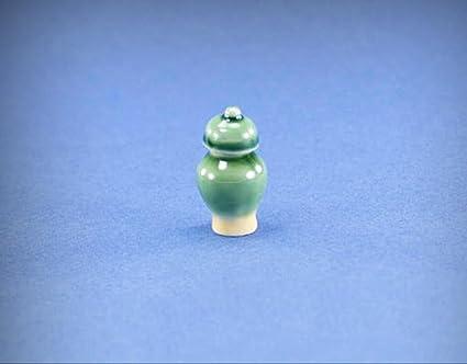 Dollhouse Miniature Glass Urn w//Removable Lid