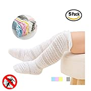 Newborn Baby Girl Boy Toddler Knee High Cotton Socks 5 Pack (S (0-12 Months))
