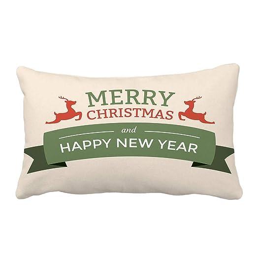 BHYDRY Funda de almohada de Navidad Sofá suave Cojín ...