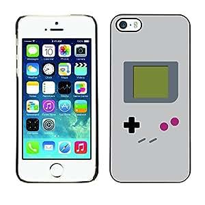 Cubierta de la caja de protección la piel dura para el Apple iPhone 5 / 5S - video game retro art painting
