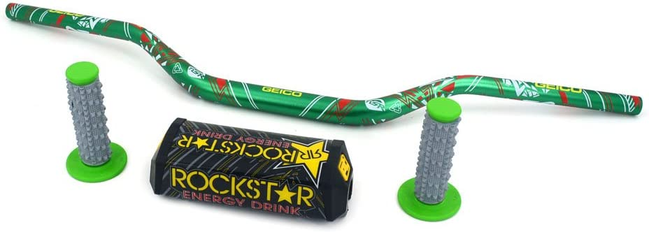 28mm Handlebars Fat Handle Bars For Kawasaki KX125//KX250//KX250F//KX450F//KLX250